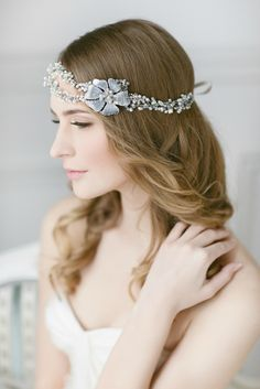 Save 10% on Elegant Silver Diamante and Pearl Bridal Headpieces From Lavender By Jurgita | Photography by http://monikadovidaite.com/
