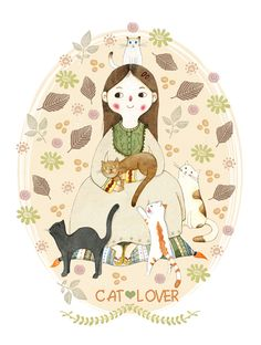 Cat Lover illustrated by Judith Loske