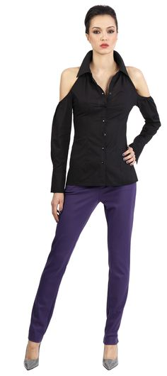 Catherine Malandrino: cut out top and plum skinny pants