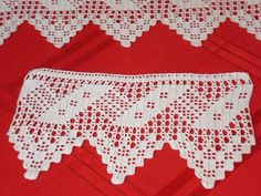 91 TANE TIĞ İŞİ KENAR ÖRGÜLERİ VE DANTELLERİ | Nazarca.com Crochet Towel, Crochet Trim, Crochet Motif, Crochet Doilies, Crochet Lace, Crochet Stitches, Crochet Diagram, Filet Crochet