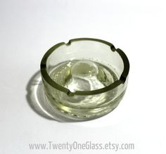 Recycled Sparkling Wine Bottle Bottom Ashtray Champagne by TwentyOneGlass, $16.00