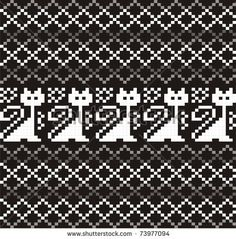 61 Ideas for crochet cat pattern fair isles Motif Fair Isle, Fair Isle Chart, Fair Isle Pattern, Knitting Charts, Loom Knitting, Knitting Stitches, Knitting Patterns, Cross Stitches, Knitting Designs