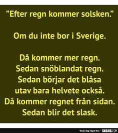 Crazy Quotes, Funny Quotes, Funny Memes, Jokes, Swedish Quotes, Proverbs Quotes, Belly Laughs, More Than Words, True Words