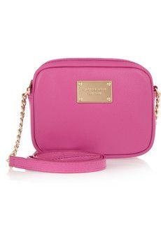 Perfect pop of pink // MK Jet Set small leather shoulder bag // $130