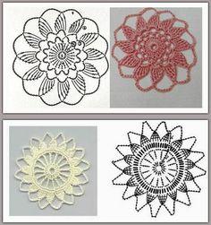 Preciosa colección de motivos circulares tejidos con ganchillo, para reutilizar los sobrantes de lana y hacer lindos almohadones, mantas y...