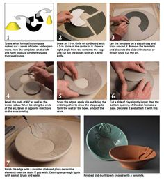 Slab-building pottery - Learn to make a simple bowl with slabs.