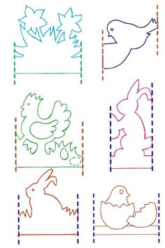 it wp-content uploads 2014 03 Kirigami, Easter Crafts, Christmas Crafts, Diy And Crafts, Crafts For Kids, Paper Cutting Patterns, Paper Chains, Paper Snowflakes, Molde