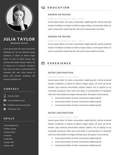 If you like this design. Check others on my CV template board :) Thanks for sharing! Resume Design Template, Design Resume, Cv Template, Resume Templates, Cv Design, Resume Help, Job Resume, Resume References, Modern Resume