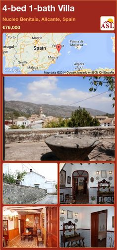 4-bed 1-bath Villa in Nucleo Benitaia, Alicante, Spain ►€76,000 #PropertyForSaleInSpain