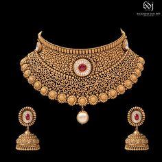 Jewelry Design Earrings, Gold Earrings Designs, Necklace Designs, Gold Bangles Design, Gold Jewellery Design, Antic Jewellery, Gold Wedding Jewelry, Gold Jewelry, Gold Necklace