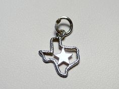 Retired James Avery Sterling Silver Rope Texas w/ Star Charm
