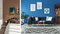 Blue Couch Living Room, Brown And Blue Living Room, Teal Living Rooms, Living Room Color Schemes, Blue Rooms, Living Room Chairs, Blue Walls, Light Blue Couches, Navy Blue Couches