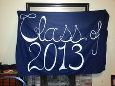 "Made a banner for my daughter's 8th grade graduation. The ""3"" is removable so we can use the banner next year and simply add a ""4""! Spray adhesive is awesome! !"