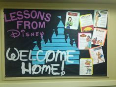 Lessons from disney, welcome home RA bulletin board