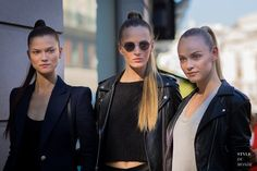 #New on #STYLEDUMONDE  http://www.styledumonde.com  with @kasiastruss @dariastrokous @gintalapina #KasiaStruss #DariaStrokous #GintaLapina at #paris #fashionweek #pfw #outfit #ootd #streetstyle #streetfashion #streetchic #streetsnaps #fashion #mode #style