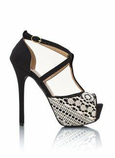 strappy lace peep-toe heels