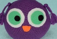 Owl Pillow Mini Owl Cushion Crochet Owl Pillow by MalechaKnitting