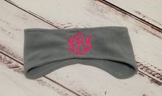 FREE SHIPPING, Monogrammed ear warmer, monogram fleece headband, personalized head band on Etsy, $13.00