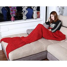 Warm and Soft All Seasons Mermaid Blanket Sofa Quilt Living room blanket (Medium Adult, 180*90CM) -- For more information, visit http://www.amazon.com/gp/product/B019RPEJ78/?tag=ilikeboutique09-20&de=180716235315