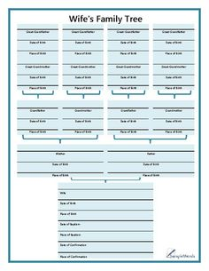 Free Family Tree Template  Free Blank Family Tree Template Lank