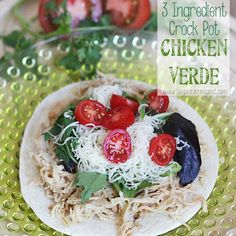 One of our favorite crock pot recipes! Use low carb tortillas. Healthy Slow Cooker, Crock Pot Slow Cooker, Crock Pot Cooking, Healthy Crockpot Recipes, Slow Cooker Recipes, Cooking Recipes, Crockpot Meals, Easy Chicken Dinner Recipes, Entree Recipes