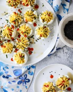 Happy deviled egg season! I mean, I guess it's technically ALWAYS deviled egg season. But I like to think that Easter kicks it off. We tend to only make deviled eggs (or, say, a trashed up version like this) in my family during the warmer months. They never make an appearance during the holiday season …