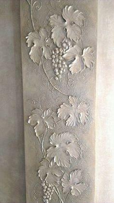 Wall texture plaster inspiration 65 new ideas Plaster Crafts, Plaster Art, Sculpture Painting, Wall Sculptures, Mural Art, Wall Murals, Clay Wall Art, Canvas Wall Art, Aluminum Foil Art