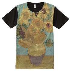 Van Gogh Sunflowers Vintage Fine Art All-Over-Print T-Shirt - tap to personalize and get yours Van Gogh Sunflowers, Vans Shop, Stylish Shirts, Classical Art, S Shirt, Outfit Goals, Unique Art, Custom Design, Fine Art