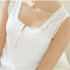 2017 Fashion Summer Style Ladies Tops With Lace Patchwork Fitness Women White Sexy Hollow Out Lace Chiffon Blouse Shirt 20 Size S Color Black White Lace Blouse, Black And White Blouse, White Blouses, Black White, Lace Camisole, Floral Blouse, Color Black, Women's Summer Fashion, Fashion 2016