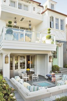 Contemporary White Front Terrace | LuxeSource | Luxe Magazine - The Luxury Home Redefined