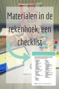 Materialen in de rekenhoek, een checklist - speciaal voor nieuwsbrief abonnees…