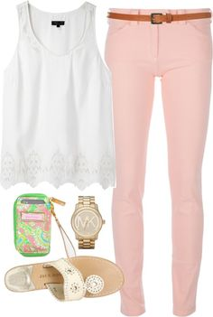 """Pastels"" by classically-preppy on Polyvore"