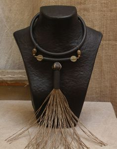 Ethnic necklace with African beads