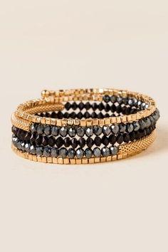 Adriene Beaded Coil Bracelet