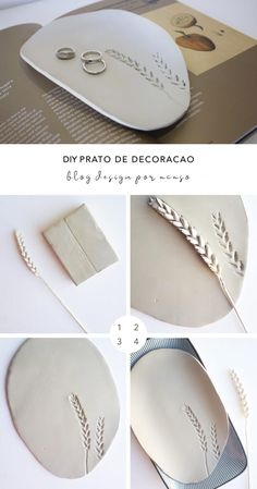 DIY Clay Coasters by Refined Design - personalized clay coasters you can make from home! Perfect craft project and gift idea for weddings, Christmas, and birthdays. Ceramic Clay, Ceramic Pottery, Slab Pottery, Ceramic Bowls, Clay Earrings, Clay Jewelry, Mainzu Ceramica, Plastic Fou, Cerámica Ideas
