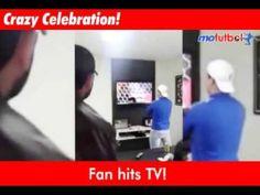 Fan Breaks TV During Brazil Win