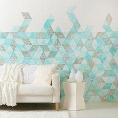 Geometric Stamped Wall