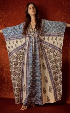 how tough would it be to use this vintage caftan as inspiration?  more view of it on the blue hydrangea blog...her july 20, 2011 post