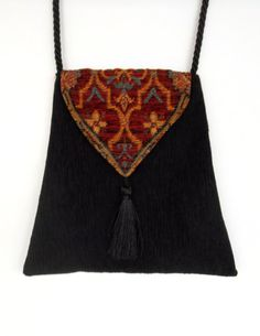 Rich Chenille Tapestry Backpack Dark Rust by piperscrossing
