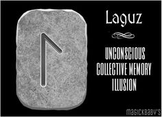 The oracular significance of Laguz is the mysterious force and last of the mind, communication, inducing way to dive into the water to search for spiritual hidden in it fruit. Laguz say is like saying seduction, sensuality. http://www.metirta.com/00-laguz-significado-runas.php