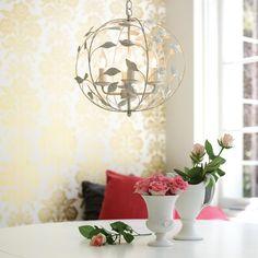 Ivy 3 Light 30cm Round Pendant in Cream