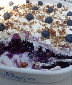 Blueberry JELL-O Salad Recipe   @whatscookingusa