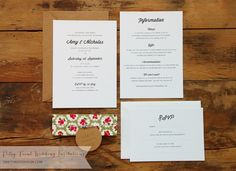 Ditsy Fabric Design wedding invitation set by Tikety Boo Design. Based in Rugby, Warwickshire, UK, post worldwide. Wedding Invitations Uk, Wedding Stationery, Wedding Gifts, Wedding Day, Ditsy, Stationery Design, Wedding Themes, Rugby, Wedding Accessories