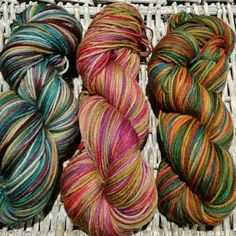 Hand dyed yarn, blue faced leicester wool, DK yarn, 4ply yarn, knitting wool, variegated yarn, indie dyed yarn, luxury wool. by Homespunwonders on Etsy