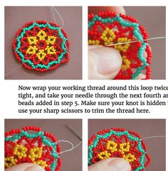 **this listing is for English language beadweaving instructions only. you will b… - Jewelry Ideas Beaded Earrings Patterns, Seed Bead Patterns, Beading Patterns, Beaded Necklace, Bead Jewellery, Seed Bead Jewelry, Seed Beads, Seed Bead Bracelets Diy, Earring Tutorial