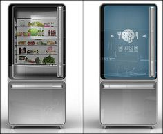 "A fridge that ""sees"" what you are running low and and reminds you to pick it up.  Or offers recipe suggestions based on what you've got in there.  #want #fridge #gadgets #cool"