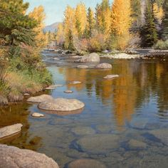 """""""Never Enough Gold"""" by Jay Moore (oil). Love his rock technique - great info for watercolor"""