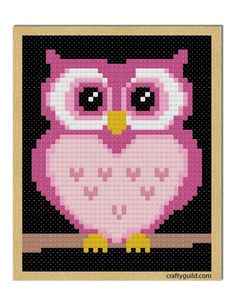 Check this Pink Owl Free Cross Stitch Pattern on my blog and stitch one for your family and friends.