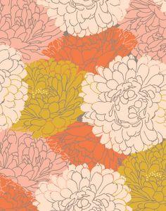 Large scale florals in 'Petal Play' by Bonnie Christine Bonnie Christine