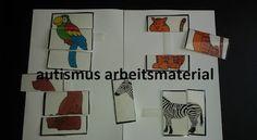 Autismus Arbeitsmaterial: Mappe: Tierpuzzle